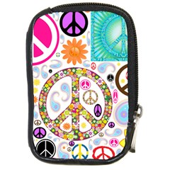 Peace Collage Compact Camera Leather Case