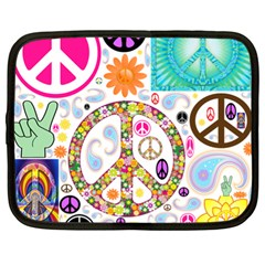 Peace Collage Netbook Sleeve (xl)