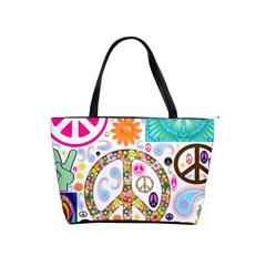 Peace Collage Large Shoulder Bag