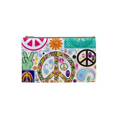 Peace Collage Cosmetic Bag (Small)