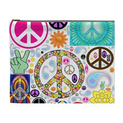 Peace Collage Cosmetic Bag (XL)