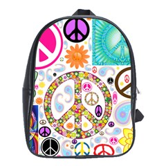 Peace Collage School Bag (large)