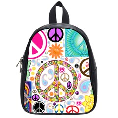 Peace Collage School Bag (small)
