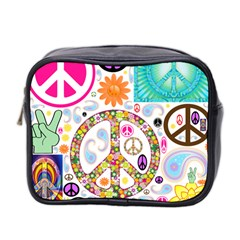 Peace Collage Mini Travel Toiletry Bag (Two Sides)