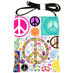 Peace Collage Shoulder Sling Bag