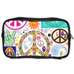 Peace Collage Travel Toiletry Bag (Two Sides)