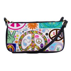 Peace Collage Evening Bag