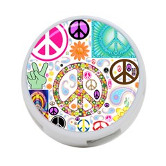 Peace Collage 4-Port USB Hub (Two Sides)