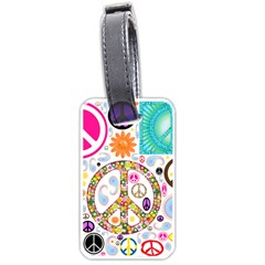 Peace Collage Luggage Tag (Two Sides)