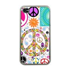 Peace Collage Apple iPhone 4 Case (Clear)
