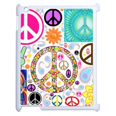 Peace Collage Apple iPad 2 Case (White)