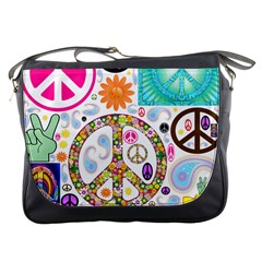 Peace Collage Messenger Bag