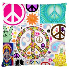 Peace Collage Large Cushion Case (Two Sided)
