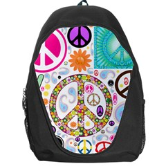 Peace Collage Backpack Bag