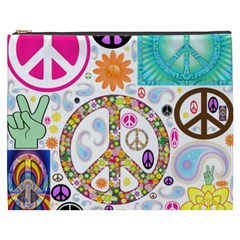Peace Collage Cosmetic Bag (XXXL)