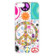 Peace Collage Apple iPhone 5 Seamless Case (White)