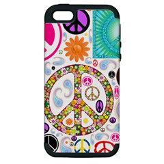 Peace Collage Apple Iphone 5 Hardshell Case (pc+silicone)