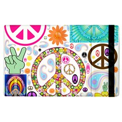 Peace Collage Apple iPad 3/4 Flip Case