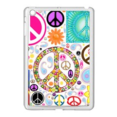 Peace Collage Apple iPad Mini Case (White)