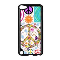 Peace Collage Apple iPod Touch 5 Case (Black)