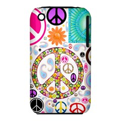 Peace Collage Apple Iphone 3g/3gs Hardshell Case (pc+silicone)