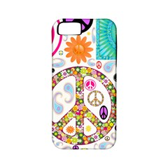 Peace Collage Apple iPhone 5 Classic Hardshell Case (PC+Silicone)
