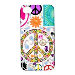 Peace Collage Apple Iphone 4/4s Hardshell Case With Stand