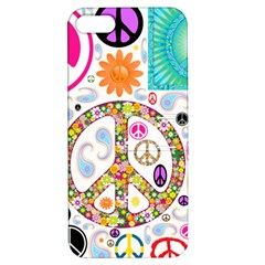 Peace Collage Apple iPhone 5 Hardshell Case with Stand