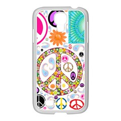 Peace Collage Samsung GALAXY S4 I9500/ I9505 Case (White)