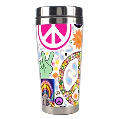 Peace Collage Stainless Steel Travel Tumbler