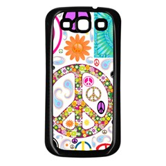 Peace Collage Samsung Galaxy S3 Back Case (black)
