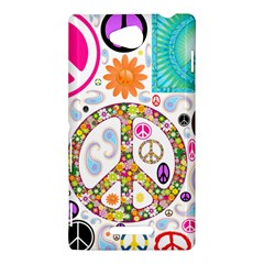 Peace Collage Sony Xperia C (S39h) Hardshell Case