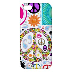 Peace Collage iPhone 5S Premium Hardshell Case