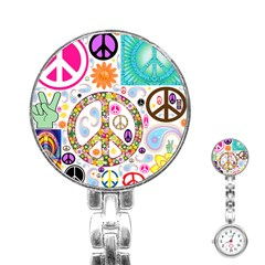 Peace Collage Stainless Steel Nurses Watch