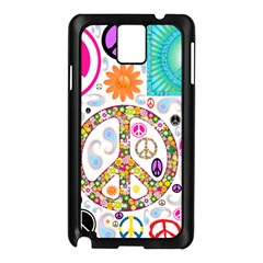 Peace Collage Samsung Galaxy Note 3 Case (Black)