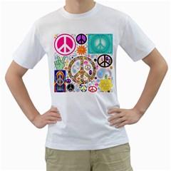 Peace Collage Men s T-Shirt (White)