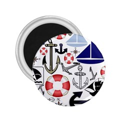 Nautical Collage 2 25  Button Magnet