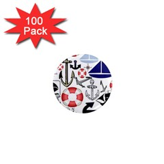 Nautical Collage 1  Mini Button Magnet (100 pack)