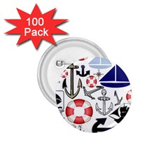 Nautical Collage 1.75  Button (100 pack)