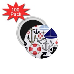 Nautical Collage 1 75  Button Magnet (100 Pack)