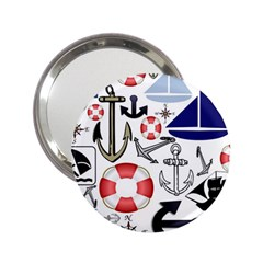 Nautical Collage Handbag Mirror (2.25 )