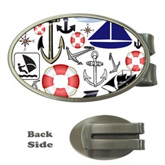 Nautical Collage Money Clip (Oval)