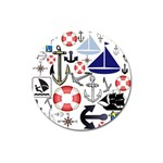 Nautical Collage Magnet 3  (Round) Front