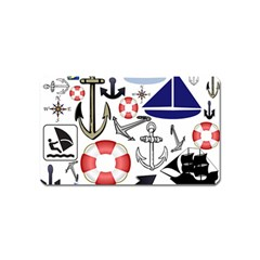 Nautical Collage Magnet (name Card)