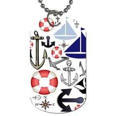 Nautical Collage Dog Tag (two Sided)