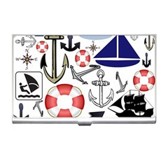 Nautical Collage Business Card Holder