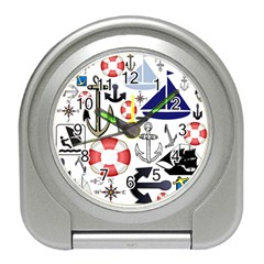 Nautical Collage Desk Alarm Clock