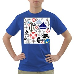 Nautical Collage Men s T-shirt (Colored)