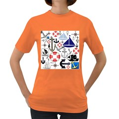 Nautical Collage Women s T Shirt (colored)