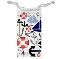 Nautical Collage Jewelry Bag